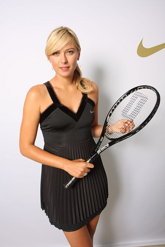 Maria Sharapova Wearing Nike, just before US Open 2008.