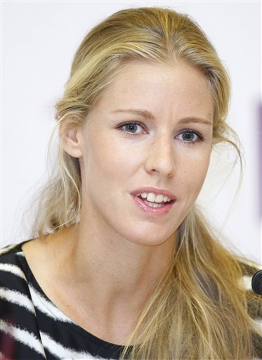 Elena Dementieva of Russia in Doha, Qatar. (AP Photo/Kirsty Wigglesworth)