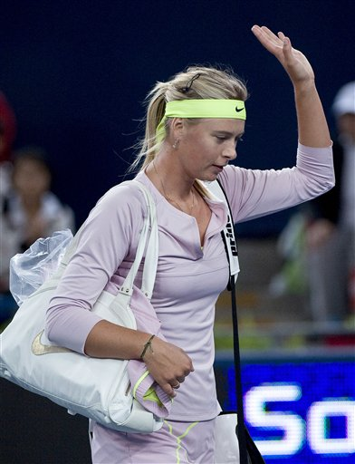 Russia's Maria Sharapova at China Open in Beijing, China.