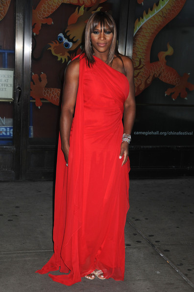 Serena Williams in red dress at Glamour Women of the Year.