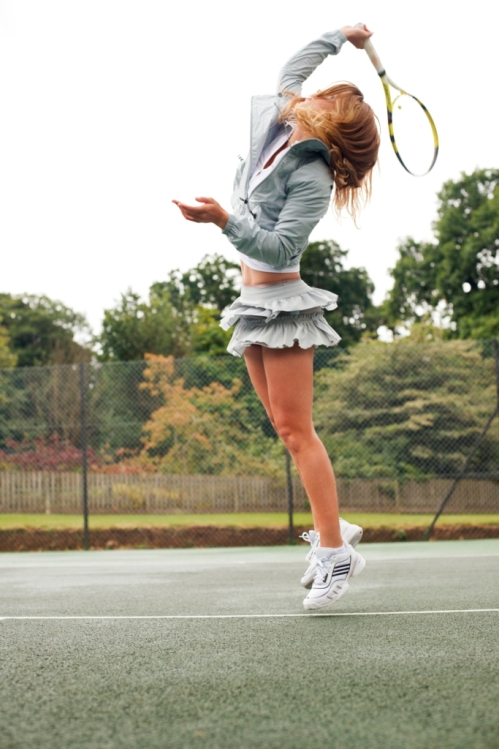 Wozniacki Wearing Tennis Performance Skirt by Stella McCartney.